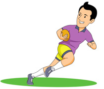 Boy Playing Rugby Clipart Size: 78 Kb-Boy Playing Rugby Clipart Size: 78 Kb-1