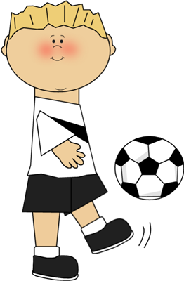 Boy Playing Soccer - Soccer Images Clip Art