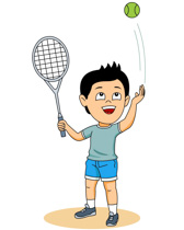 Boy Playing Tennis Clipart Size: 55 Kb-Boy Playing Tennis Clipart Size: 55 Kb-1