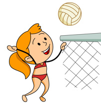 Boy Playing Volleyball Clipart Size: 95 Kb