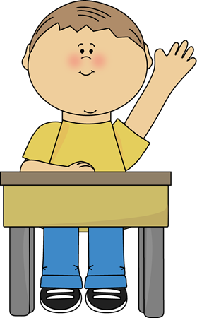 Boy Raising Hand Clip Art Boy Raising Hand Vector Image