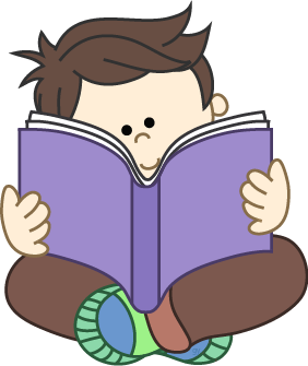 Boy Reading A Book Clipart In Png Format