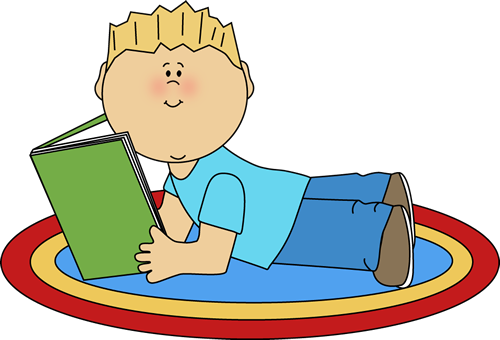 Boy Reading Clip Art