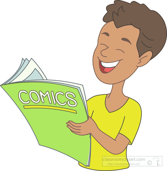 Boy-reading-comic-book-clipart .-boy-reading-comic-book-clipart .-2