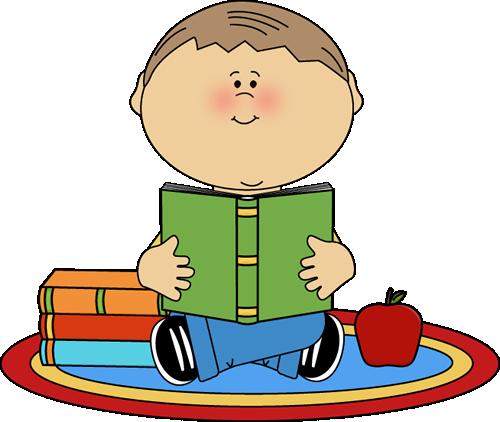 Boy Reading School Book-Boy Reading School Book-1