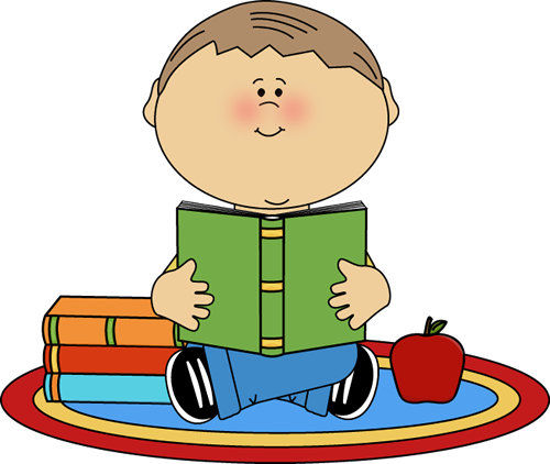 Boy Reading School Book - Read Clipart