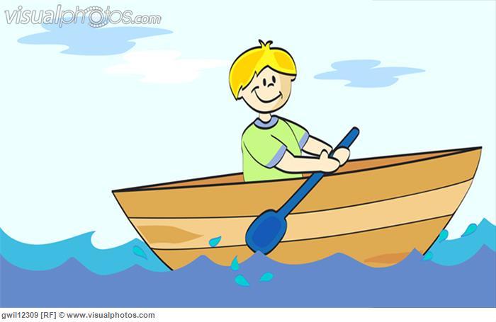 Boy rowing a boat [gwil12309] .