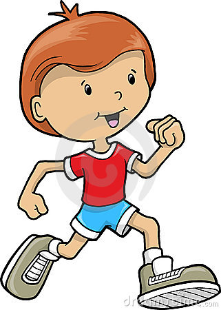Boy Runner Clipart #1