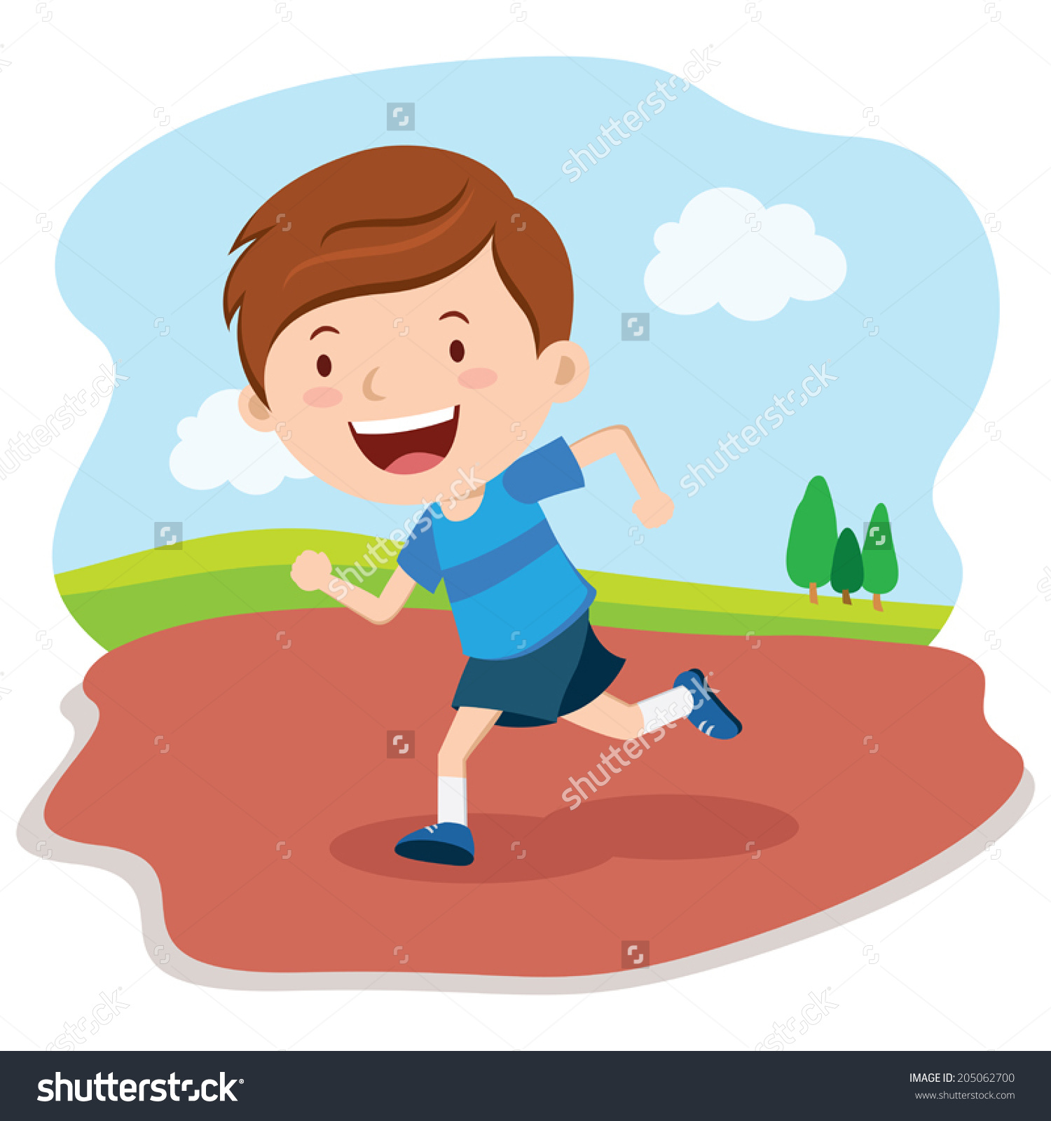 Boy Running Race.