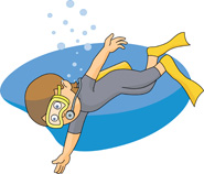 boy scuba diving cartoon. Siz - Scuba Diver Clipart