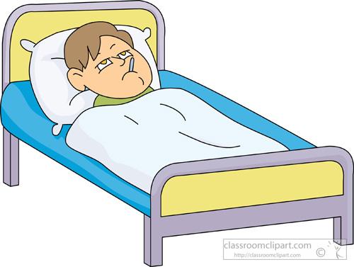 Boy sick in bed clipart-Boy sick in bed clipart-13