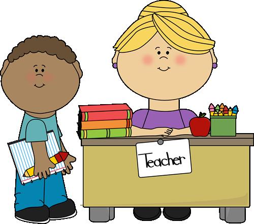 Boy Student at Teacheru0026#39;s Desk