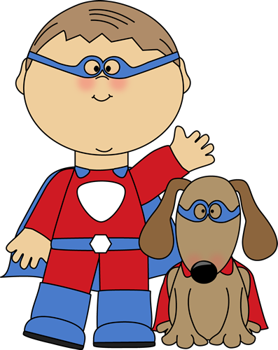 Boy Superhero And Dog-Boy Superhero and Dog-2