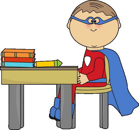 Boy Superhero At School Desk Clip Art Bo-Boy Superhero At School Desk Clip Art Boy Superhero At School Desk-17
