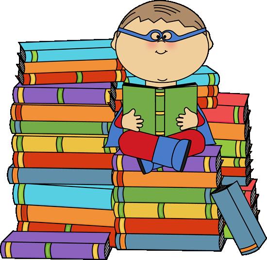 Boy Superhero Bookworm
