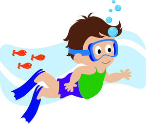 Boy Swimmer Clipart #1