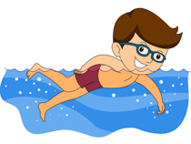 Boy Swimming Clipart Size: 101 Kb