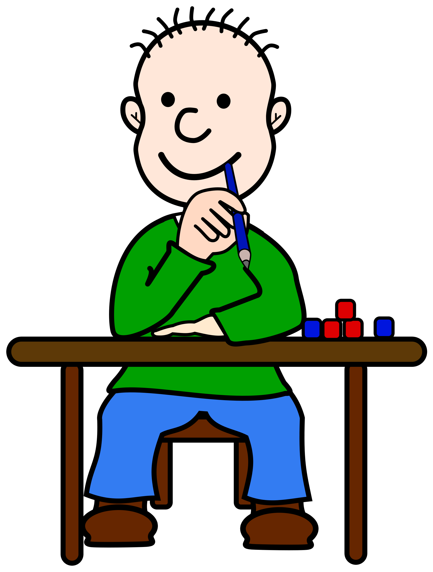 Boy Thinking Clipart Clipart Panda Free Clipart Images