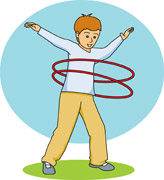 Boy using a hula hoop. Size: 62 Kb From: Recreation