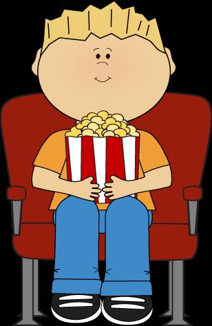 Boy Watching Movie With Popcorn-Boy Watching Movie with Popcorn-1