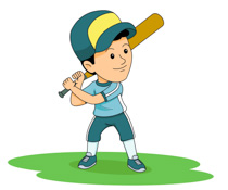 Boy Wearing Uniform Playing Baseball Size: 94 Kb