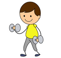 boy weight lifting. Size: 71  - Lifting Weights Clipart