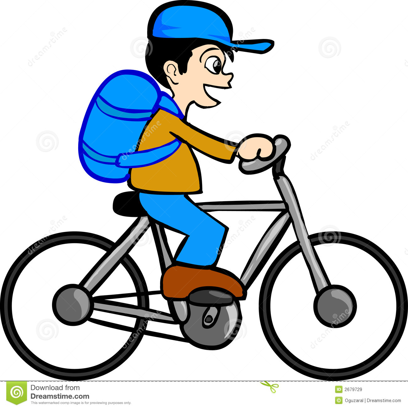 Boy With Bicycle Royalty Free Stock Images Image 2679729