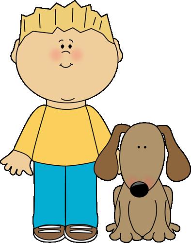 Boy With Pet Dog Clip Art Image Blond Ha-Boy With Pet Dog Clip Art Image Blond Haired Boy With His Pet Dog-12