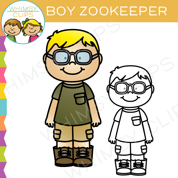Boy Zookeeper Clip Art
