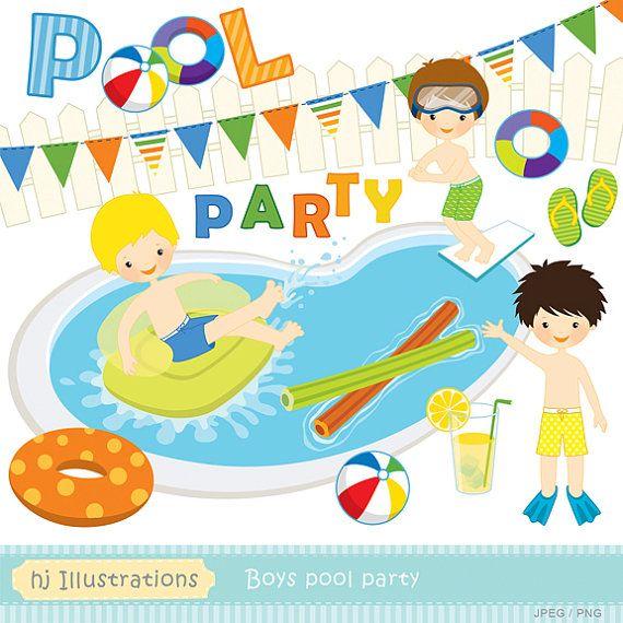 Boys Pool Party Clipart #1-Boys Pool Party Clipart #1-13