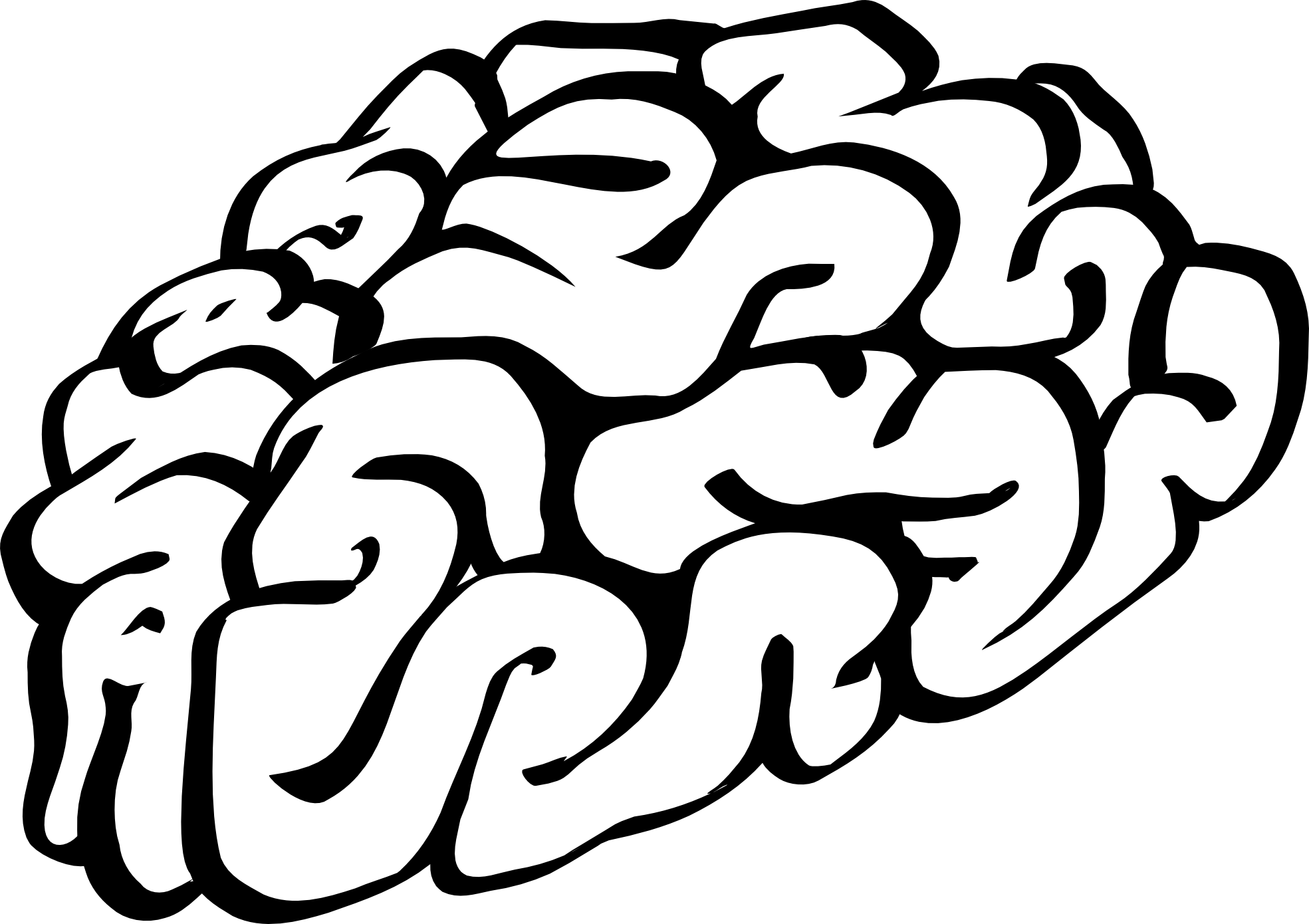 Brain clip art black and white human brain cartoon of a black