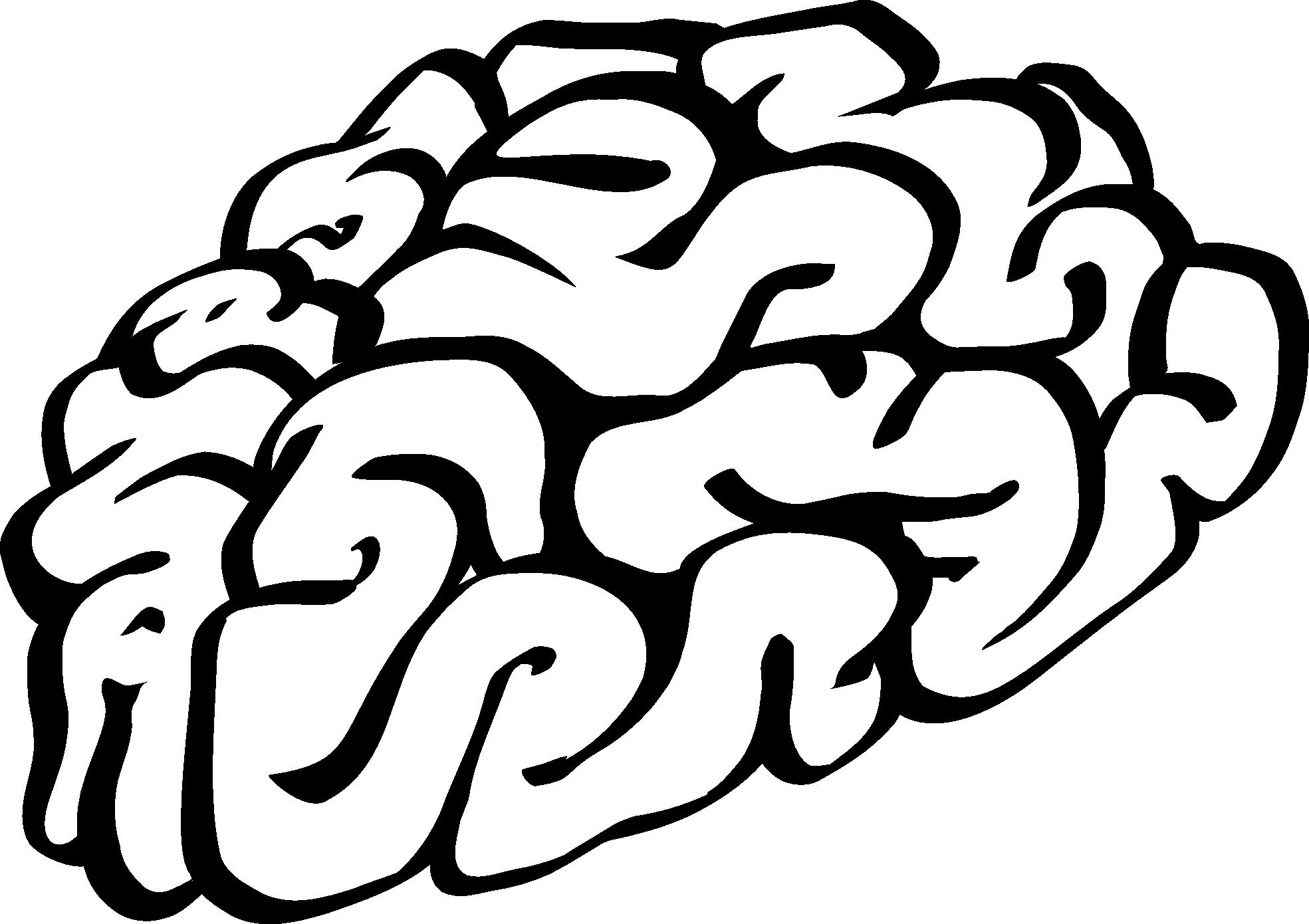 Brain Clip Art Black And White Human Bra-Brain clip art black and white human brain cartoon of a black-1