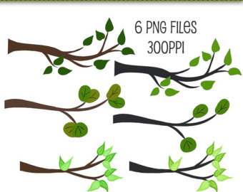 Branches Clipart, Tree Branches Clip Art-Branches Clipart, Tree Branches Clip Art, Digital Scrapbooking Elements, Graphics, Clip Art, Cute Clip Art, Leaves Clip Art, Leaf Clip Art-2