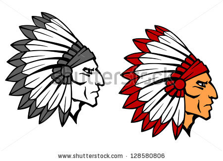 Brave indian warrior head for mascot or tattoo design. Jpeg version also available in gallery