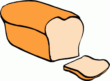 bread clipart black and white