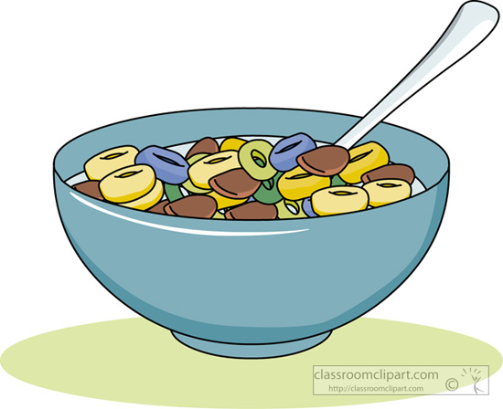 Breakfast Clipart Bowl Of Cereal Classroom Clipart