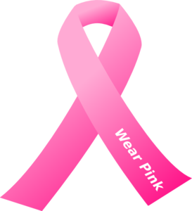 Breast cancer awareness pink ribbon clip art at clker vector