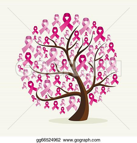 breast cancer u0026middot; Breast cancer-breast cancer u0026middot; Breast cancer awareness conceptual tree with pink ribbons. EPS10 vector file organized in layers for-11