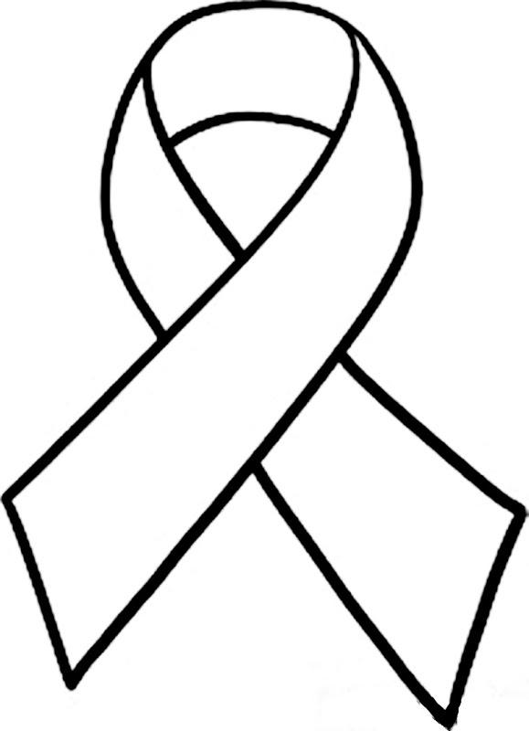 ... Breast Cancer Ribbon Clip Art Black -... Breast cancer ribbon clip art black and white ...-4