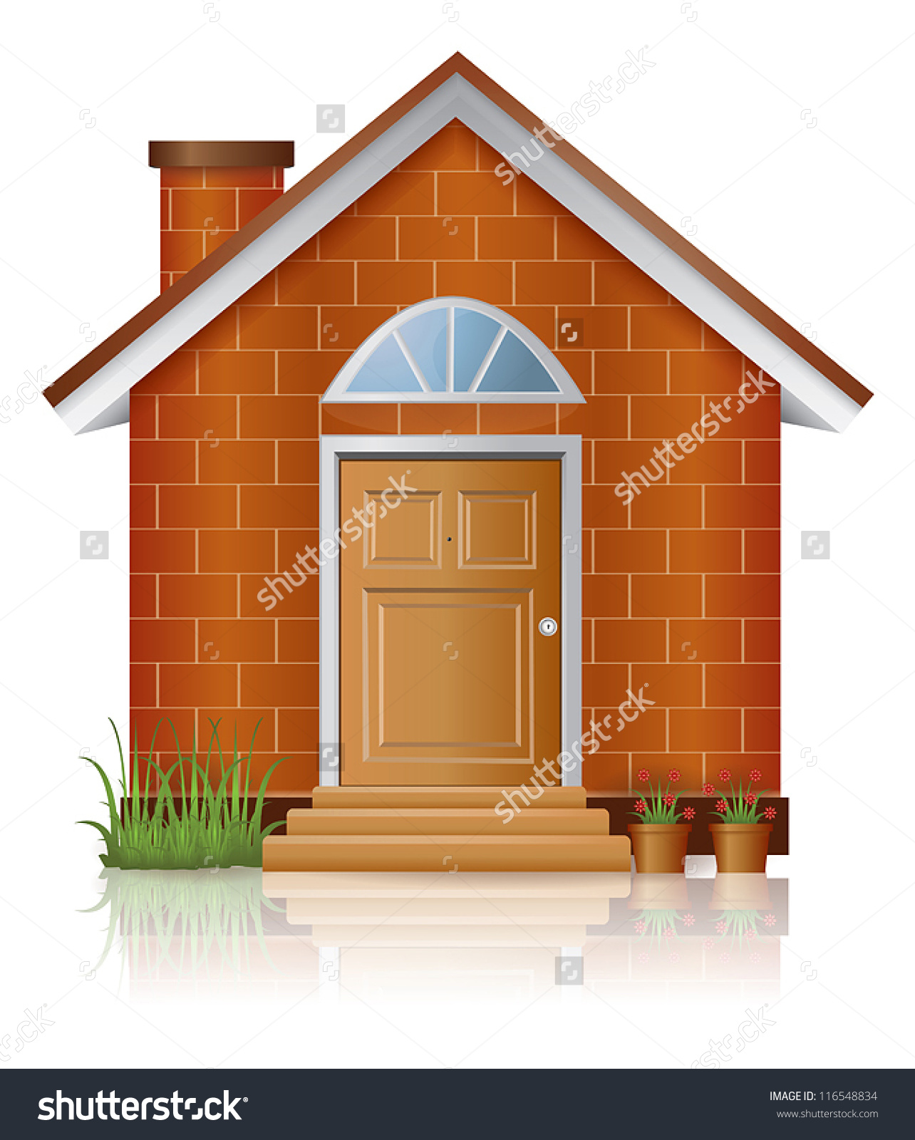 Brick House Stock Vectors .