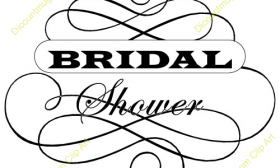 bridal shower clipart for invitations