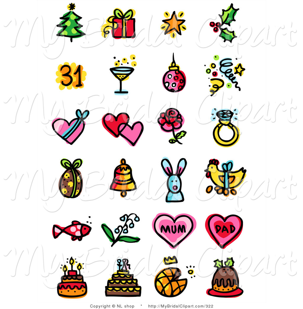 Bridal Clipart of a Digital . - Free Clip Art Holidays