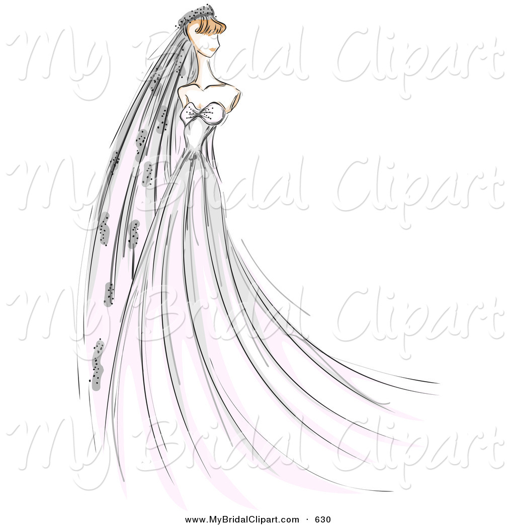 Bridal Clipart of a Sketched .