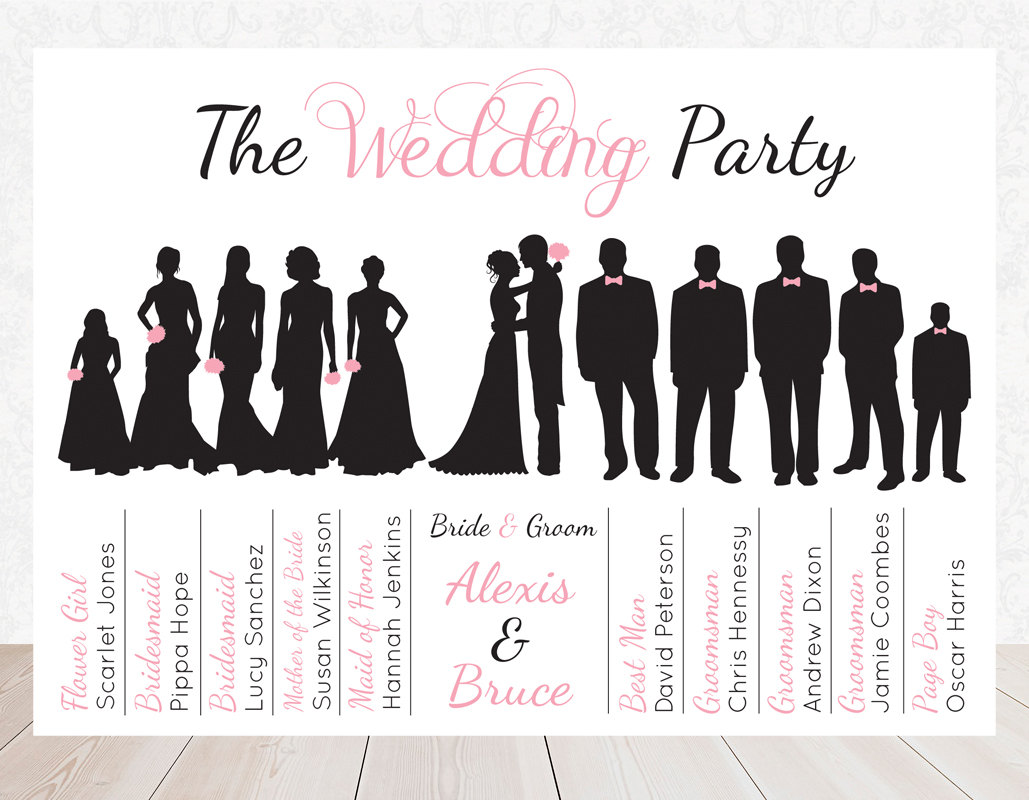 Bridal Party Silhouette Clip Art Free Wedding Party Bridal Party