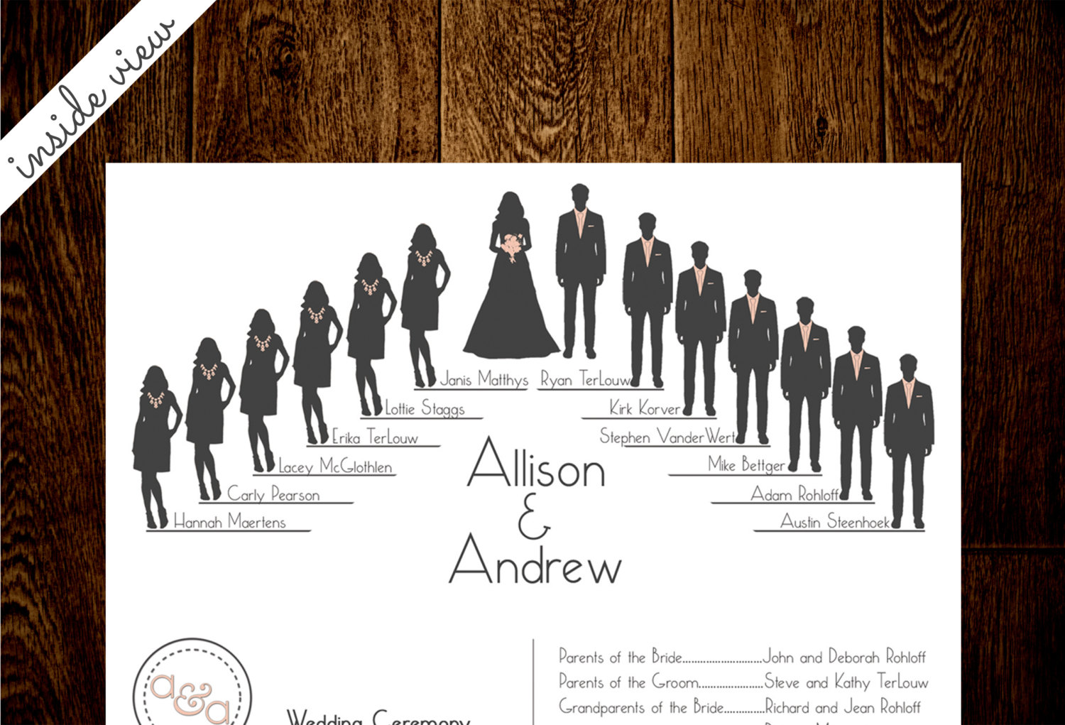 Bridal Party Silhouette Template Bridal Party Silhouette Clip Art