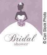 ... Bridal Shower Invitation - Illustration of a young elegant.