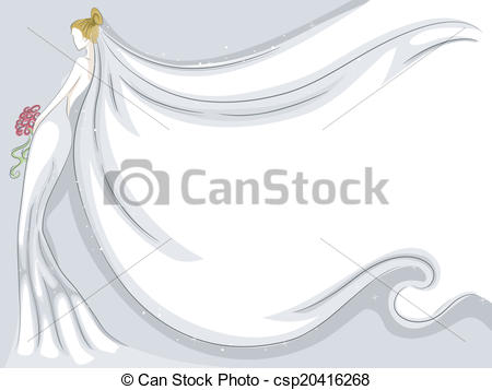 Bridal Veil Background - Background Illustration Featuring a.