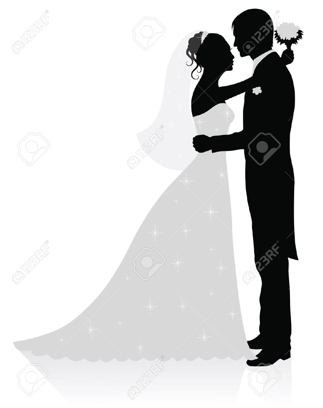 Bride and groom clip art . 0651b2d192b124794f2f5b8e3c5c23 .