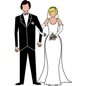 Bride And Groom Clipart Black And White-bride and groom clipart black and white-4