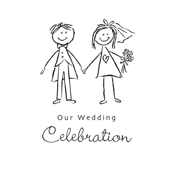 Bride and groom clipart black and white weddingdecoration 2